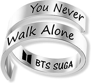 مجوهرات فريق بي تي إس الغنائي الكوري (بي تي إس الغنائي الكوري)، مجوهرات للبنات، أحببت نفسك لا تمشى وحدها هدية لمحبي