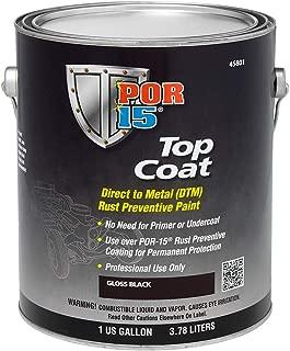 POR-15 45801 Top Coat Gloss Black Paint, 128. Fluid_Ounces