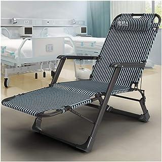 Rocker Recliner Sun Lounger Verstellbarer Stuhl Gartenmöbel Klappbett für den Strandpool Patio Garten Camping Füße Stahl Quadrate 150 kg max