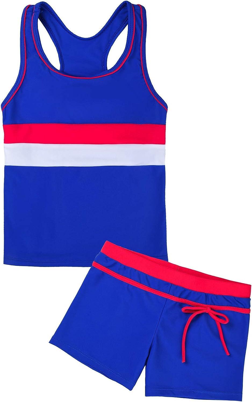 Max 89% OFF Uhnice New product Girls Swimsuit Two Piece Tankini with Swimwear Boyshort