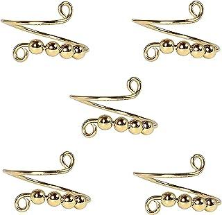 Boucle de Tricotage réglable Crochet Boucle de Tricot à Tricoter, bagues en cuivre à la Main, Guidage de Fil Titulaire de ...