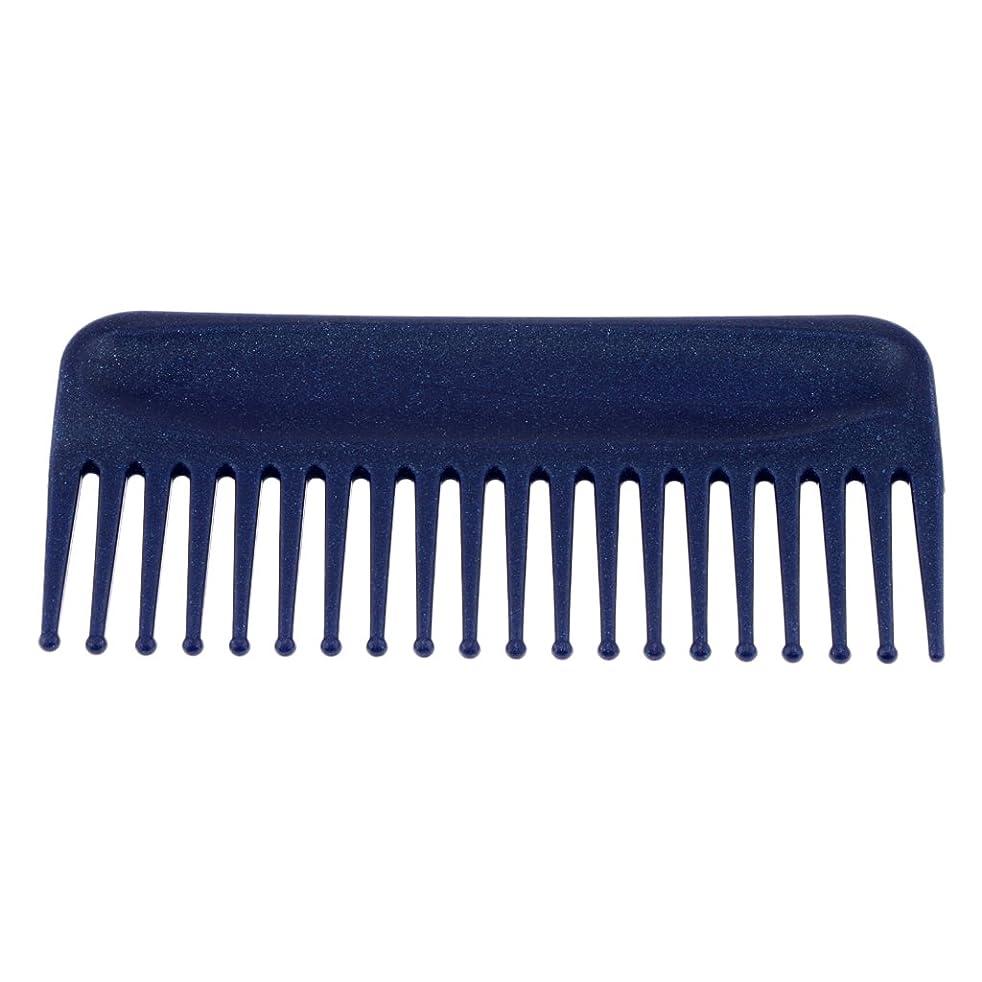 異常なドナウ川ホラーヘアコーム サロン ヘアケア 脱毛ヘアコーム ヘアブラシ 耐熱性 帯電防止 頭皮 マッサージ 丸いヘッド 4色選べる - 青
