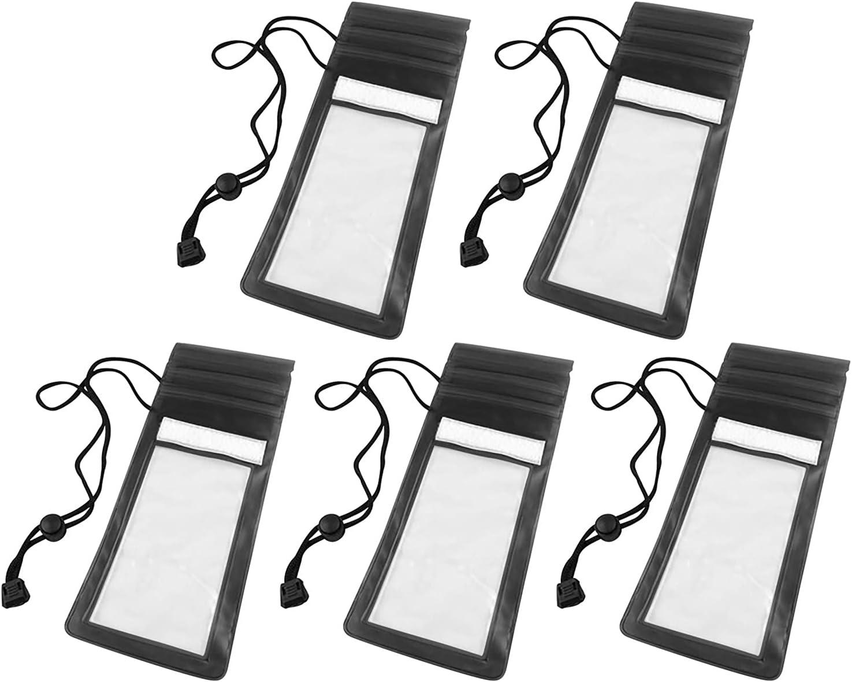 kjhgk 5PC Universal Clear Waterproof Case, Transparent Waterproof Bag Cellphone Dry Bag