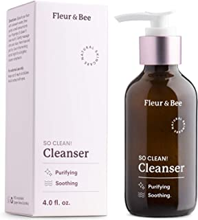 Natural Face Wash | 100% Vegan & Cruelty Free | Non Drying, Gentle, Daily Use | Dermatologist Tested Facial Cleanser with ...