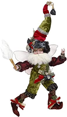 Mark Roberts 2020 Limited Edition Collection Coal Stocking Fairy Figurine, Small 9.5'' - Deluxe Christmas Decor and Collectible