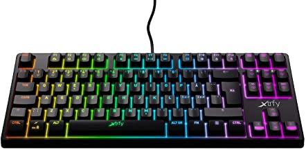 Xtrfy(エクストリファイ)K4 RGB 英語配列 赤軸メカニカル ゲーミングキーボード LEDイルミ(6ゾーン)UK配列【日本正規代理店保証品】 (テンキーレス(TKL)) #701172