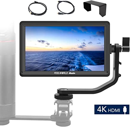 Feelworld Master MA6F, 5.5 inch on Camera Field Monitor, Full HD 1280X720 IPS, for Gimbal/Stabilizer, 4K HDMI Input Output, Aluminum Frame. …