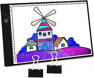 PullPritt Mesa de Luz de Dibujo,LED A4 Tableta de Luz