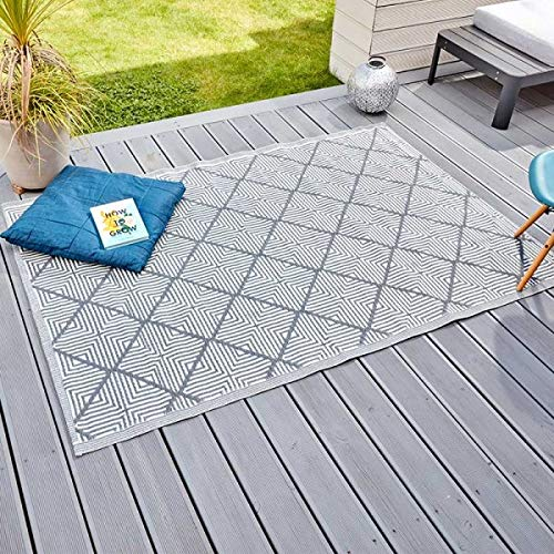 Photo of garden mile® Large Al Fresco Area Rugs Indoor Outdoor Patterned Rug Patio Terrace Balcony Hall Kitchen Carpet Rugged and Water Resistant 100% Polypropylene (Alexandria)