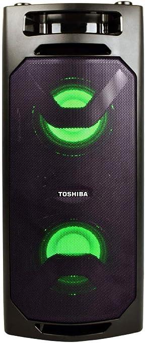 Toshiba TY-ASC8 Wireless Speaker System w/FM Stereo Radio  8 Watt  Outdoor Bluetooth Speaker  Party Speakers w/Rechargeable Batteries & MP8