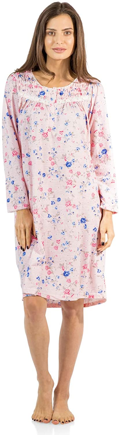 Casual Nights Women's Cotton Blend Long Sleeve Nightgown