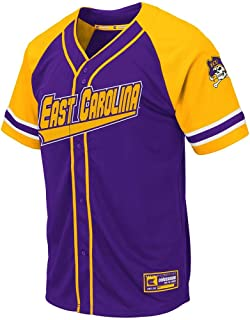 Colosseum Mens ECU East Carolina Pirates Wallis Baseball Jersey