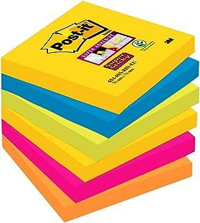 Post-It Super Sticky Notes, Zelfklevende Notitieblaadjes, Meerkleurig, 76 x 76 mm