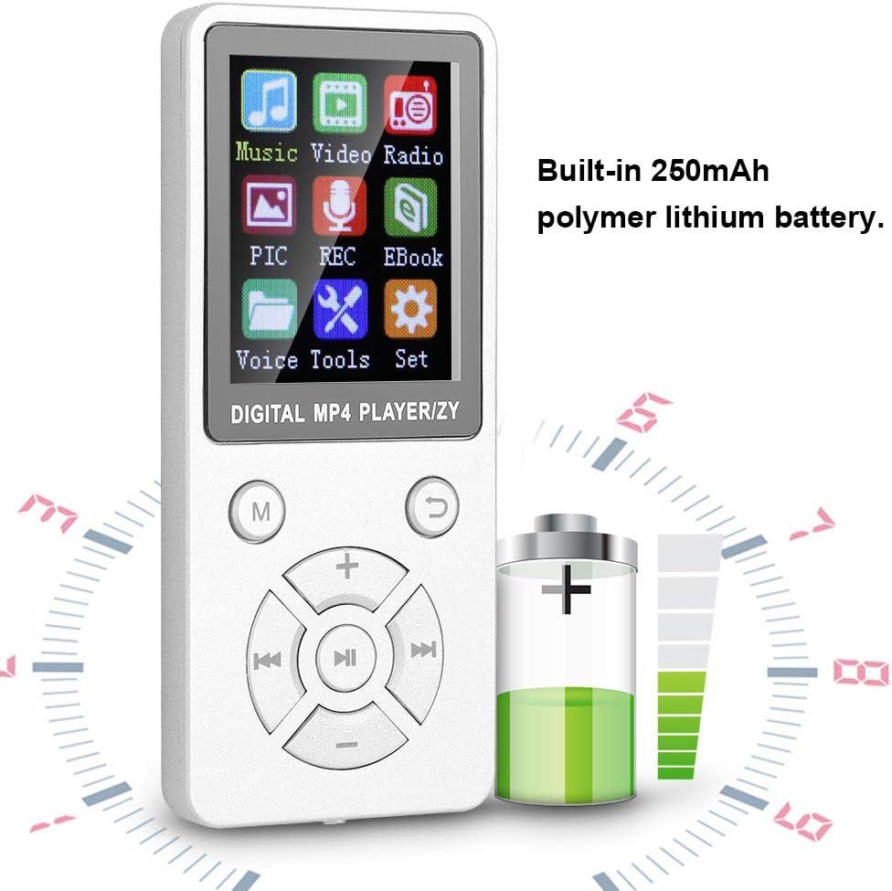 Socobeta Reproductor de m/úsica Multimedia port/átil Bluetooth MP3 Radio para Black