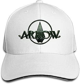 Sports Green Arrow-Emerald Archer Snapback Hat White Sandwich Peaked Cap