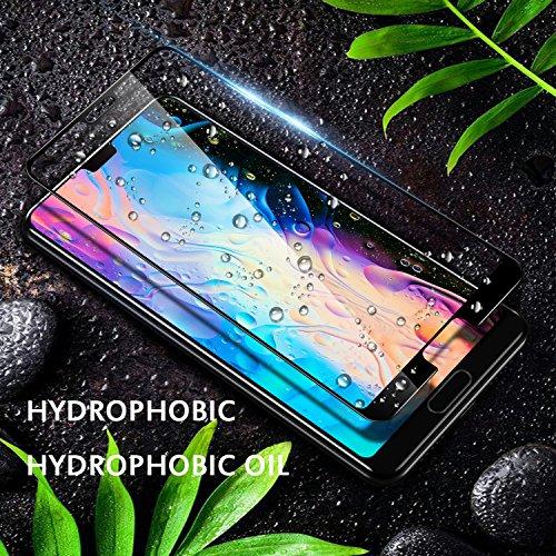 SGIN Huawei P20 Panzerglas Schutzfolie, [2 Stück] Premium Gehärtetem Glas Displayschutzfolie, Anti-Fingerabdruck, Blasenfrei, Anti-Kratzer, 9H Härtegrad, für Huawei P20 - Schwarz - 2
