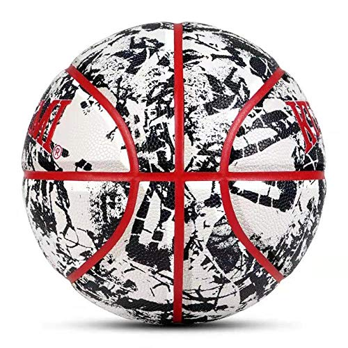 Review Of SSLLPPAA Black and White Basketball Indoor and Outdoor No. 7 Standard Game Basketball, Bla...