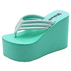 b4a2dd78d75 IDIFU Women s Comfy Wedge Platform Thong Sandals with Heels B ..