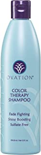 Ovation Color Therapy Shampoo - Salon Quality, Sulfate Free Shampoo with Natural Ingredients including Keratin, Argon Oil to Gently Cleanse Hair while Protecting Color and Shine