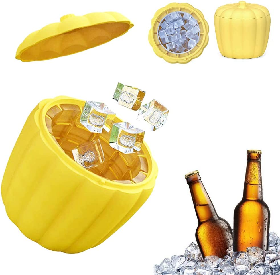 Soldering Silicone Pumpkin Ranking TOP4 Ice Bucket Moulds Bar Ic Lids with