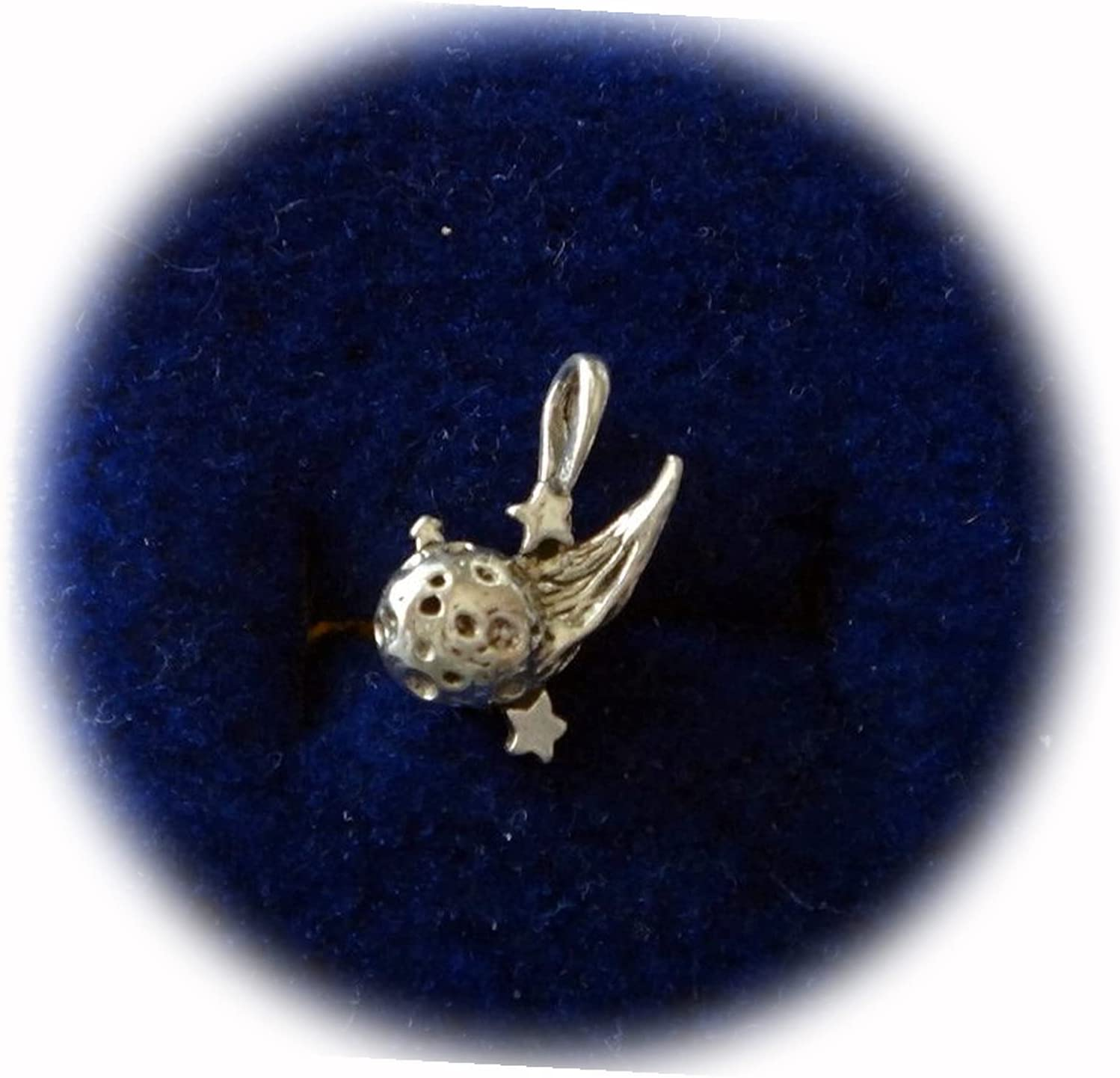 New Sterling Max 41% OFF Silver 3D 15x14mm Comet Shooting Meteor Special sale item Star Solid