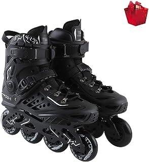 初心者 フィットネスタイプ 屋外 向け Inline Skate ,男性女の子 フィットネスタイプ 屋内 ローラースケート,大人 ジュニア贈り物 インラインスケート (Color : Black-1, Size : EU 46/US 13/UK...