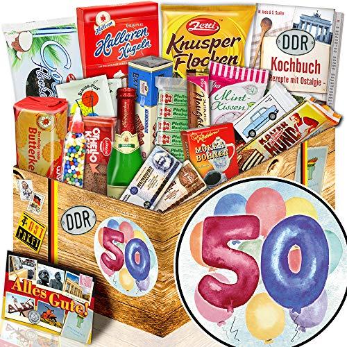 50. Geburtstag + Süßigkeiten aus dem Osten + Geschenke 50 Geburtstag