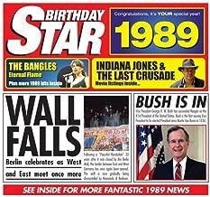 1989 Birthday Gifts - 1989 Chart Hits CD and 1989 Greetings Card