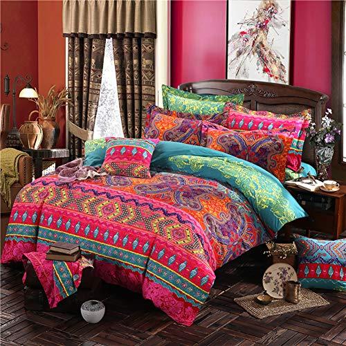 Omelas Bohemian King Duvet Cover Set Colorful Boho Floral Bedding...