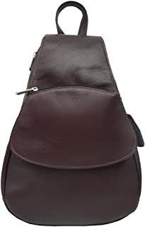 Piel Leather Flap-Over Sling, Chocolate, One Size