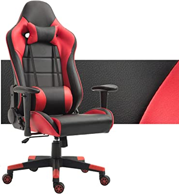 Amazon.com: Incbruce Gaming Chair with Adjustable High Back ...
