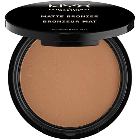 NYX Professional Makeup Polvos bronceadores Matte Bronzer, Polvos compactos, Sin brillos, Fórmula vegana, Tono: Deep Tan