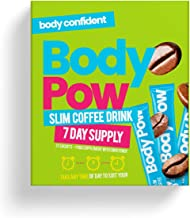 Body Pow Slim Coffee Diet Drink 7kCal Per Cup Boost Metabolism Reduce Hunger Easy Energy Drink Supercharge Your Coffee