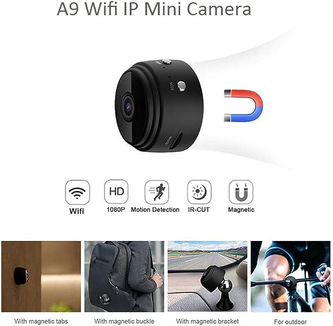 YOUYE A9 Full HD 1080P Mini Cámara WiFi Cámara Infrarroja Visión Micro Cámara Inalámbrica IP P2P Mini Cámara Detección de Movimiento Cámara DV DVR