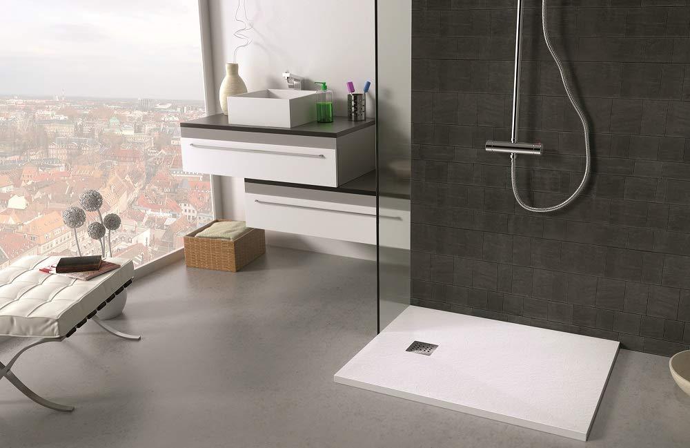 Plato de Ducha Resina Sintextone Mod. Pacifico Blanco Ral 9003 Ancho 70 cm (160x70, blanco): Amazon.es: Bricolaje y herramientas