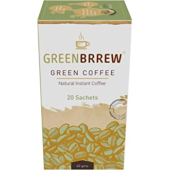 Greenbrrew Instant Green Coffee Premix for Weight Management (Natural, 20 Sachets), 3g Each - Easy to Use