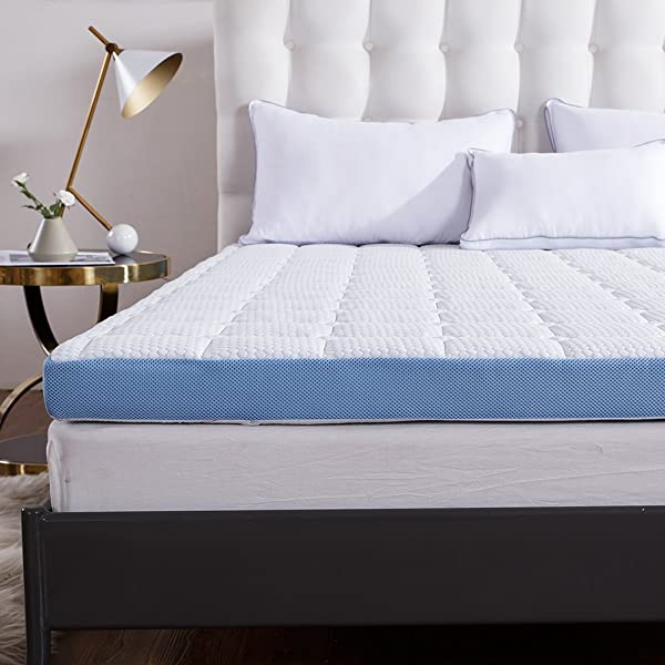Cr 3 Inch Foam Mattress Topper With Ultra Soft Cover Twin Size 37 5 X 73