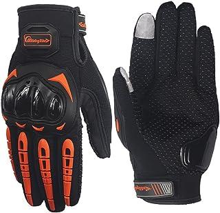 Lightinthebox Motorcycle Gloves Full Finger Nylon Material Waterproof and Non-Slip Gloves with Tactile Anti-Static Finger Medium Black