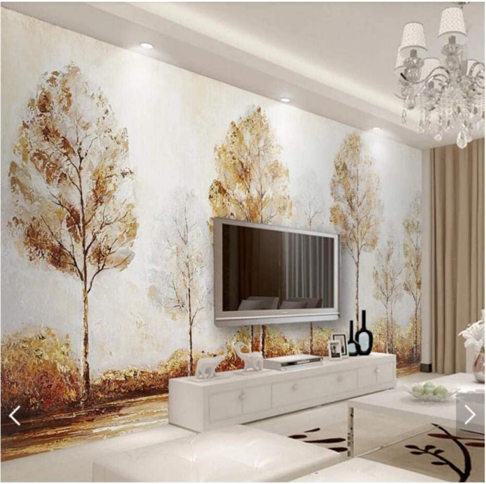 3D Abstract Topics on TV Tree Street Hand Painting Max 81% OFF Wallpaper Art Mural M Wall