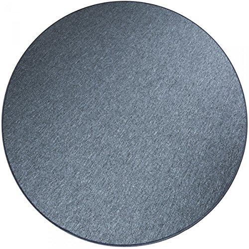 havatex Schlingen Teppich Torronto rund - schadstoffgeprüft und pflegeleicht | robust strapazierfähig | für Flur Wohnzimmer Schlafzimmer, Farbe:Anthrazit, Größe:200 cm rund