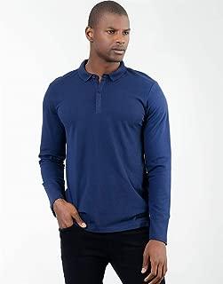 Polo Yaka Mavi ErkekSweatshirt