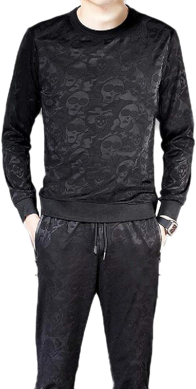 Winme Men2-Piece Round Neck Slim Fit Casual Sports Pockets Sport Tracksuit