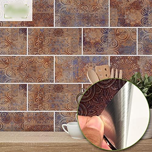 Byrhgood 20x10cm Piedra de Piedra Pegatina de Pared Impermeable Autoadhesivo PVC Pegatinas de azulejo para baño Cocina de Cocina Decoración del hogar (Color : UB018, Size : 10x20cmx27pcs(0.5m2))