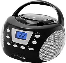 HANNLOMAX HX-310CD Portable CD Boombox, PLL AM/FM Radio, Bluetooth, LCD Display, Aux-in, Dual Power Source