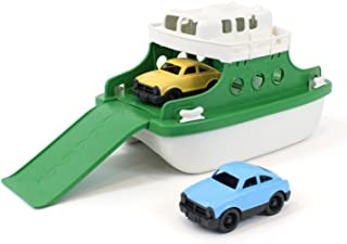 "Green Toys Ferry Boat Bathtub Toy, Green/White, 10""X 6.6""x 6.3"""