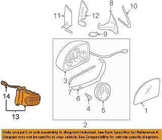 02-10 VW Volkswagen Beetle & 03-10 Beetle Convertible Left Mirror Turn Signal 1C0-949-101-E