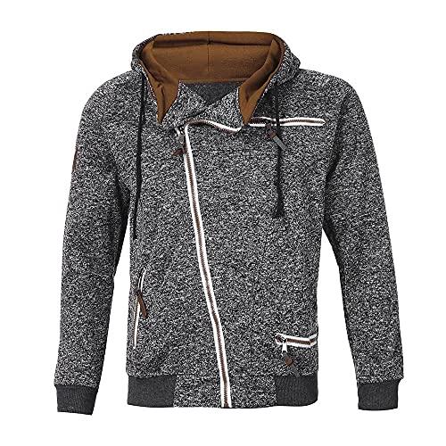 MITCOWBOYS Sudadera con capucha para hombre con cierre de cremallera, ligera, sudadera con capucha, chaqueta para exterior, chaqueta deportiva