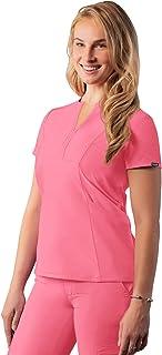 Adar Addition Scrubs For Women - Notched V-Neck Scrub Top