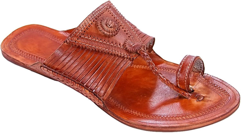 KOLHAPURI ChaPPAL Original Stunning Look tan Fourton Laces Designer Designer Designer 65533;65533;s Slipper Sandal  erbjuder butik