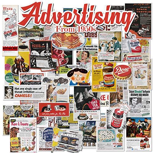 Europese en Amerikaanse retro oude affiche oude krant reclame trolley geval sticker koffer computer sticker wanddecoratie 38 vellen